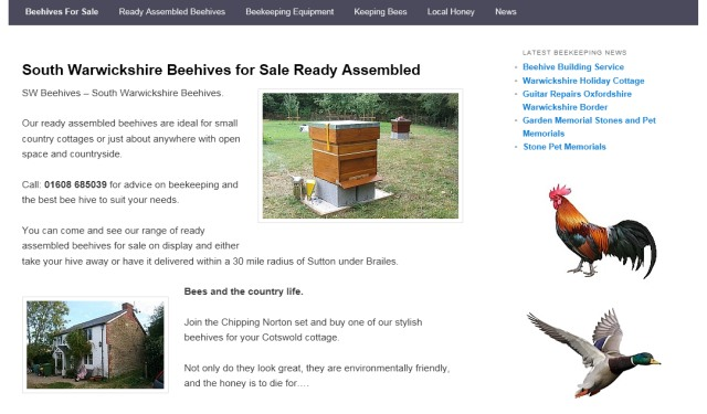 South Warwickshire Beehives for sale