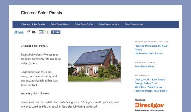 Discreet Solar Panels