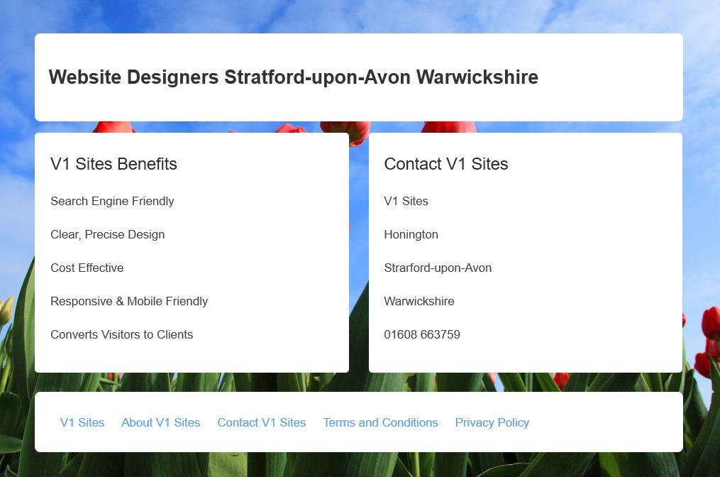 Website Designers Stratford-upon-Avon