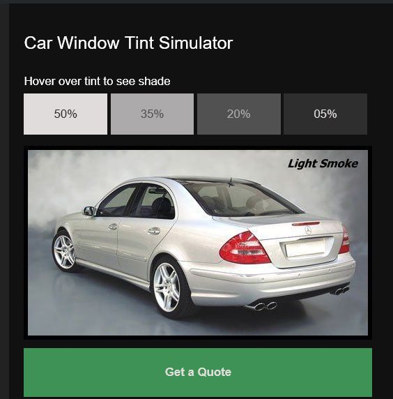 Car Window Tint Simulator